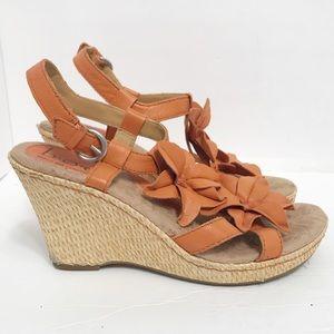 Boc Born Concepts • Wedge Flower Sandal Size 7M